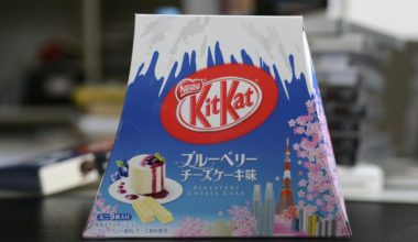 japanese kit kat blueberry cheesecake